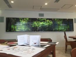 テラリウム様 (表参道/東京) 新規店舗3F建て全館 4Kサイネージプログラミング・映像・音響システム設計/設置工事